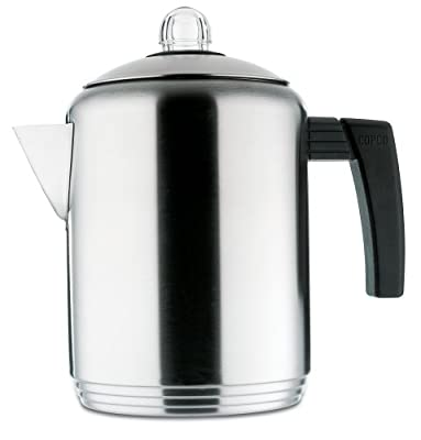 Copco Brushed 4 to 8-Cup Stainless Steel Stovetop Percolator from Copco