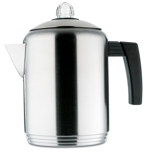 Copco Brushed 4 to 8-Cup Stainless Steel Stovetop Percolator 2501-9807