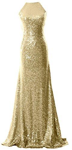 damigelle MACloth con anello e d'onore lungo dorso Light elegante ed Gold per abito da lustrini scollo sera ad sul ZZxrHq