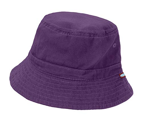 - City Threads Unisex Baby Solid Wharf Hat Bucket Hat for Sun Protection SPF Beach Summer - Purple - S(0-6M)