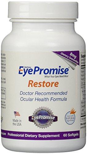 EyePromise restaurer supplément - formule complète santé maculaire avec zéaxanthine & Lutéine pour la Nutrition oculaire