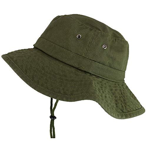 - Trendy Apparel Shop XXL Oversize Large Brim 100% Cotton Outdoor Boonie Hat - Olive - 3XL