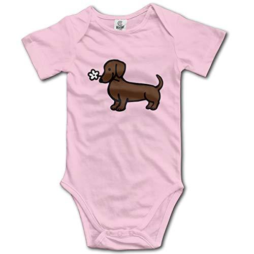 XHX Newborn Infant Dog Flower Short Sleeve Romper Onesie Bodysuit Jumpsuit ()