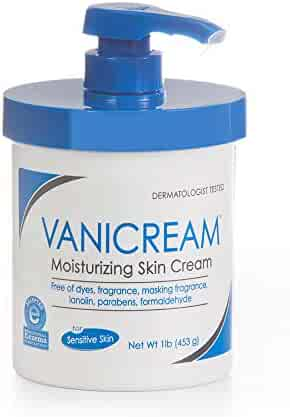 Vanicream Moisturizing Skin Cream with pump for sensitive skin - can be used for eczema, psoriasis, ichthyosis, and itch - dermatologist tested – free of dye, fragrance, and preservatives - 16 oz