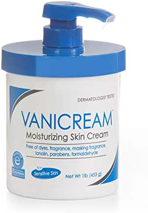 Vanicream Moisturizing Skin Cream with Pump | Fragrance and Gluten Free | For Sensitive Skin | Soothes Red, Irritated, Cracked or Itchy Skin | Dermatologist Tested | 16 Ounce (Pack of 1)