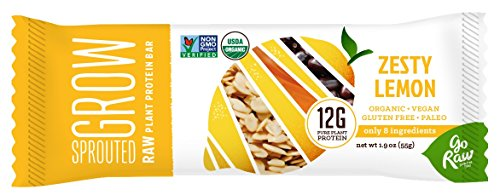 Go Raw Protein Bar, Zesty Lemon, 1.9 Ounce (Pack of 12)