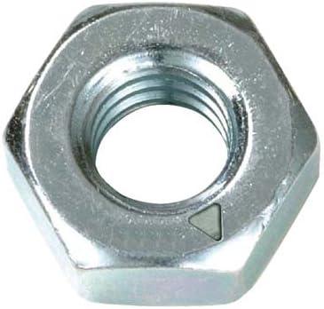 m/étrique Lot de 1000 /à t/ête hexagonale /écrou complet de qualit/é 8//écrous en acier plaqu/é zinc M2/2/mm Hex
