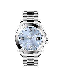 Ice-Watch 016775 - Reloj de acero inoxidable para mujer, color azul claro y plateado