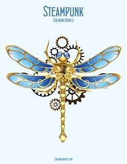 Steampunk Coloring Book 2 Volume