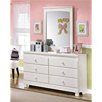 Ashley Furniture Signature Design - Cottage Retreat Dresser - 6 Drawers - Casual Styling - Cream Cottage