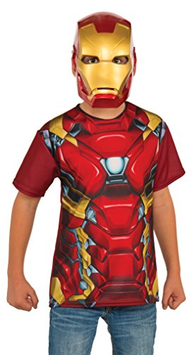 Best Children's Book Characters Costumes (Rubie's Costume Captain America: Civil War Iron Man Child Top and Mask, Medium)