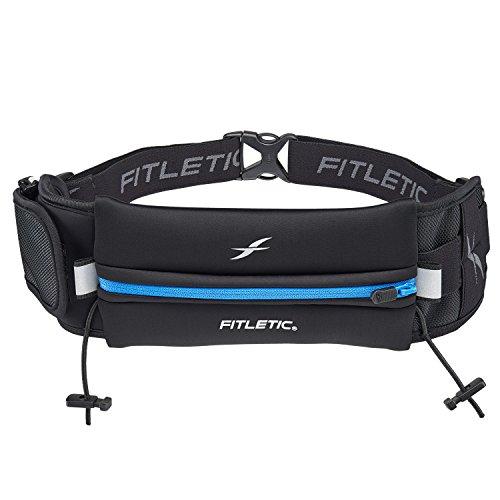 Fitletic Mens Running Belt - Black & - Triathlon Pack