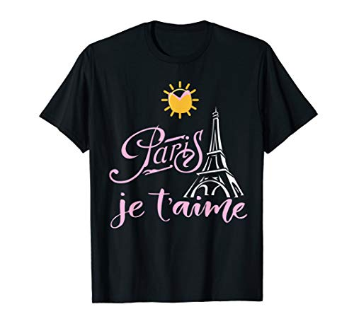 I Love Paris Women France Travel Eiffel Tower Gift Je T'aime T-Shirt