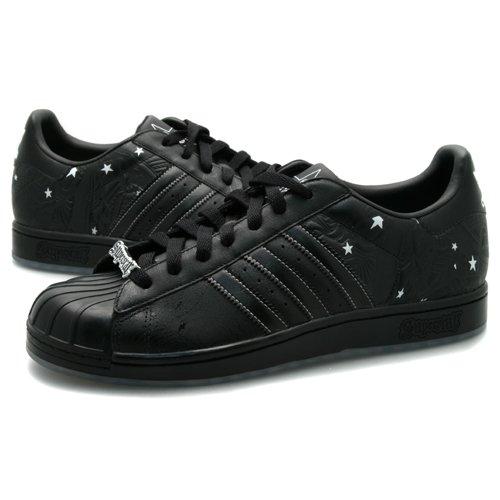 Männer Adidas Superstar CLR Sign Schwarze Turnschuhe Größe