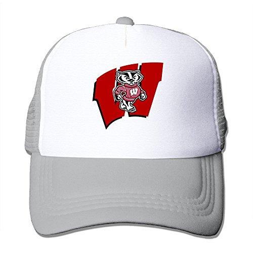 MVIKI Adult University Of Mascot Wisconsin Madison Hip Hop Caps Ash