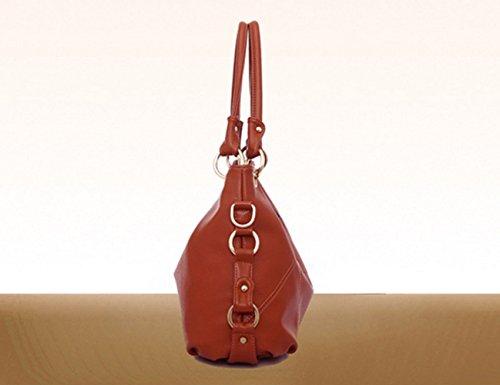 Dames Sac Diagonale à Capacité Gland Portable Sac Brown Coréenne épaule Tendance Sacs Mode Main Nouveau YXLONG Grande De qFZgwIa4
