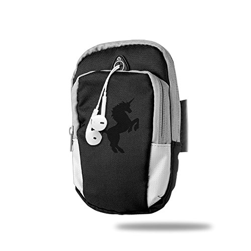 Drawing Unicorn Clipart Outdoor Sports Armband Arm Package Bag Cell Phone Bag Key Holder For Iphone 6/6s/7/7p One Size Black