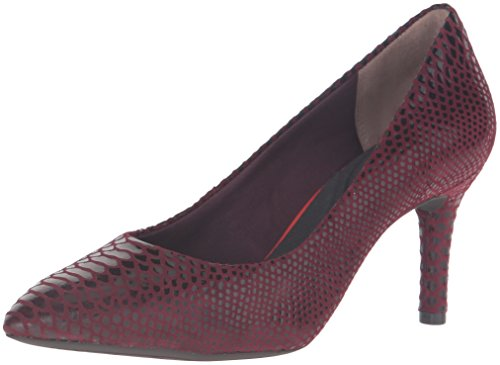 Rockport Donna Movimento Totale 75mm Pompa A Punta Cabernet Boa Serpente