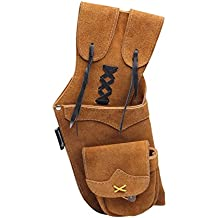 ArcheryMax Handmade Traditional Brown Leather Archery Product Arrows Quiver
