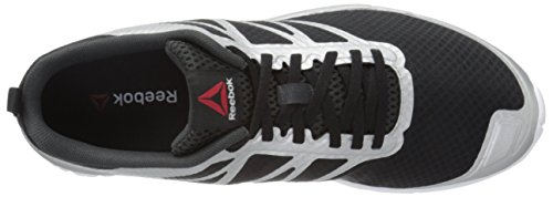Reebok Soquick las zapatillas de running Black-Gravel-Silver-White