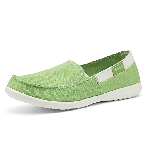 - Women Canvas Shoes Woman Ladies Casual Shoes Women Loafers Women's Flats Flats Slip on Tenis Feminino Shoes Zapatos de Mujer Green