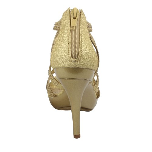 Bonnibel Womens Amy-35 Back Zipper Sparkle Cut Out Evening Wedding Promo Sandal Light Gold oktwZBew0c