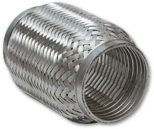 """Exhaust Flex Pipe 2 1//2/"""" x 4/"""" Length Heavy Duty Stainless Steel Interlock"""