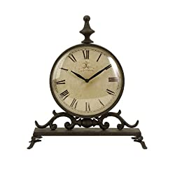 IMAX 27562 Eilard Iron Table Clock by Imax
