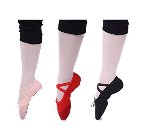 Bininbox Confortable En Cuir Ballet Chaussures Ballet Chaussures Pour Adultes Rose