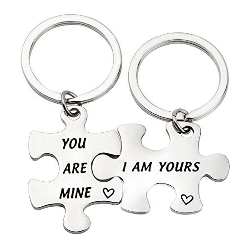 CHOROY I Am Yours/You Are Mine Set of 2 Puzzle keychains Couples Gift For Her Best Friend Gift (I Am Yours/You Are Mine) by CHOROY