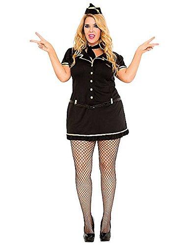 Mile High Club Stewardess Adult Costume - Plus Size 3X/4X