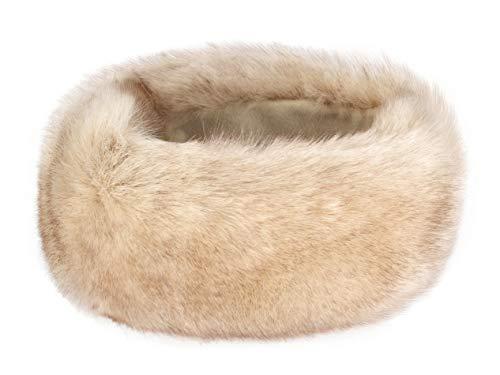 Futrzane Winter Faux Fur Headband for Women and Girls (Siberian Ecru)