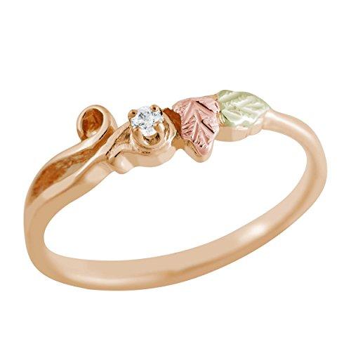 Black Hills Gold and Diamond Ring ()