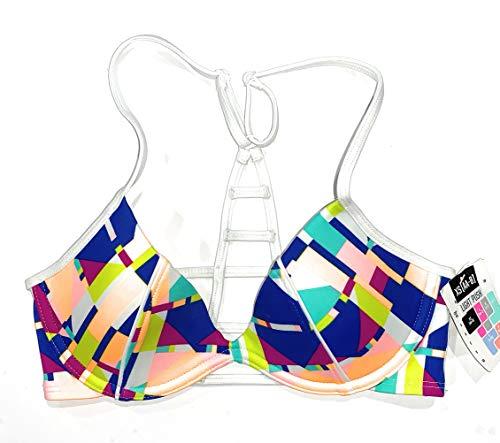 Victoria's Secret Pink Swim Light Push Up Underwire Swimsuit Bikini Top XSmall AA-B Multi-Colored