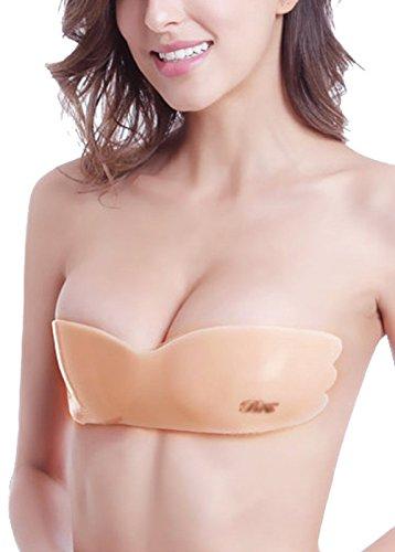 Pete Damen ein Stück trägerlosen selbst haftende Silikon stürzen Push-up BH Nackt