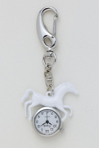 TRENDY FASHION JEWELRY HORSE KEYCHAIN WATCH BY FASHION DESTINATION | (Black) from Fashion Destination