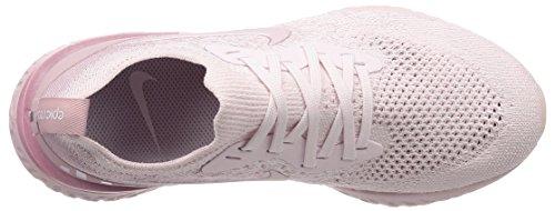 Nike Donne Epico Reagiscono Flyknit Scarpe Da Corsa Rosa Perla / Perla Rosa-a Malapena Rosa