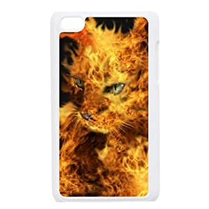 DIYCASESTORE Beautiful Ipod Touch 4 Phone Case Pretty Cat Art design,Bumper Plastic Customized Case WE468462