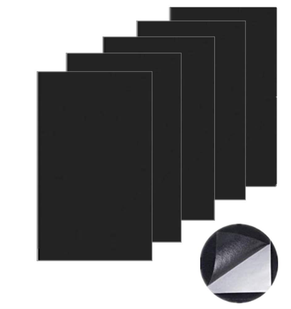 Patch de réparation pour cuir, Premier secours adhésif pour canapés sièges auto adhésif Sacs à main Cuir vestes, kit de réparation 5 pcs (Noir) Ailan