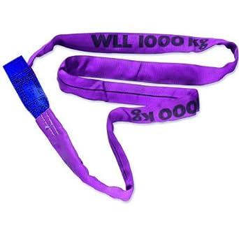 violett endlos mit Polyesterkern Braun 10041RS Rundschlinge 1000 kg Tragkraft 4 m Umfang
