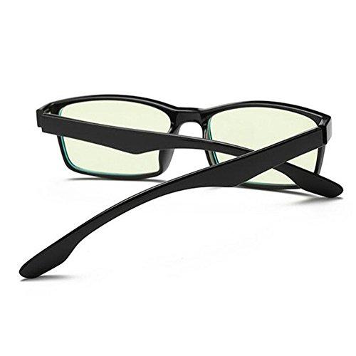 UV400 Xinvision Fatiga Clásico Previniendo ojos Negro Moda Computadora Claro Gafas Lente Anti Eyewear los Anti azul Hombre Mujer luz Retro 6vwxq6FAr