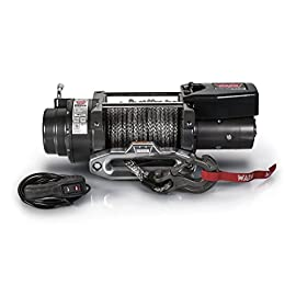 WARN 97740 16.5TI-S Electric 12V Heavyweight Winch with Spydura Pro Synthetic Cable Rope: 3/8″ Diameter x 80′ Length, 8.25 Ton (16,500 lb) Pulling Capacity