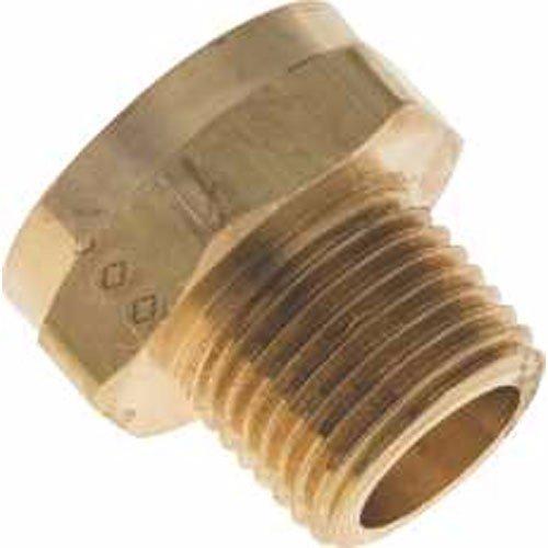 Brasscraft hu21 8 12 garden hose fitting 3 4 fht x 1 2 for Garden hose solutions