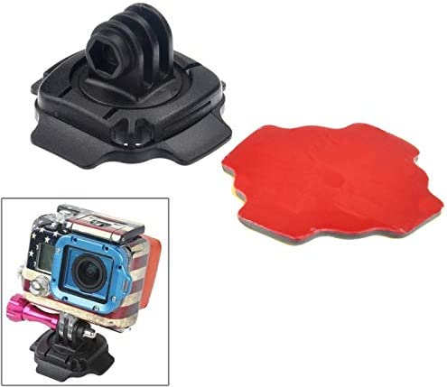 Wyanlin Wyanlin 360 Degree Adjust Helmet Mount Adapter with 3M Sticker for GoPro New Hero //HERO6 //5//5 Session //4 Session //4//3+ //3//2 //1 ST-115 Xiaoyi and Other Action Cameras