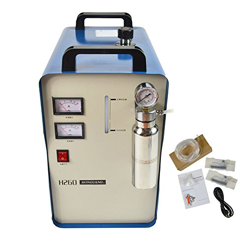 150L/H 39.6GAL/H Oxygen Hydrogen Water Acrylic Flame Polishing Machine Welder Torch Polisher 110V by Hong Guang