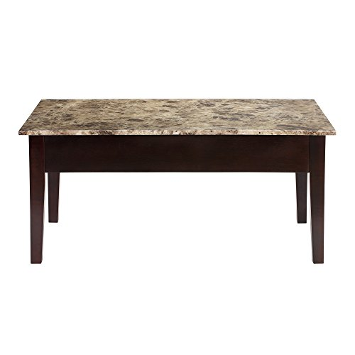 Faux Marble Lift Top Coffee Table: Dorel Living Faux Marble Lift Top Coffee Table