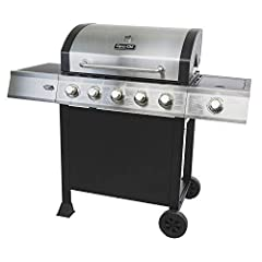 """This quality 5 burner gas grill with side burner combines performance, durability & design. Utilizing 60,000 BTU's over the 483 square"""" of primary cooking area & heavy Gauge cooking grates, this Dyna-Glo grill has everything the backy..."""