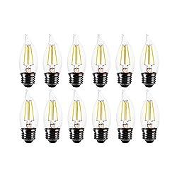 FLSNT 60 Watt Equivalent LED Chandelier Light Bulb