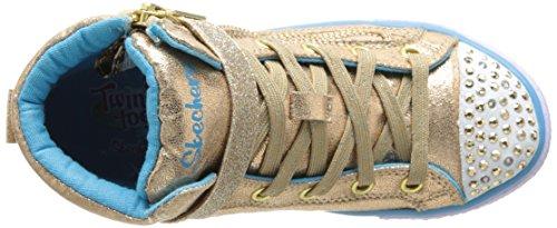 Skechers ShufflesHeart & Sole - Zapatillas de material sintético para niña Dorado (Or/ gld)