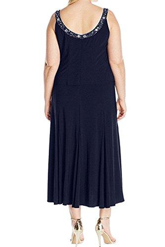 Neu Abendkleider Partykleider Jacke 2017 Ivydressing Elegant Chiffon Brautmutterkleider WadenWadenlang Grape Damen Royalblau mit 8tnpxz6q